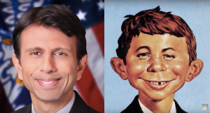 Bobby Jindal's got a impressive Mad Magazine cover collection.. NO! Impressionable... and Impressionable collection