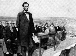 Lincoln in the most speechless speech at Gettysberg. (Go Read it)